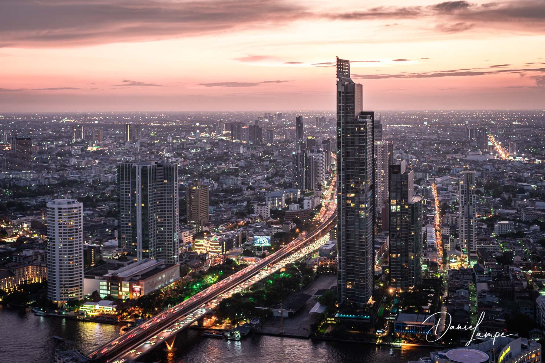 Thailand, Bangkok, Lebua State Tower, Sonnenuntergang, Skyline