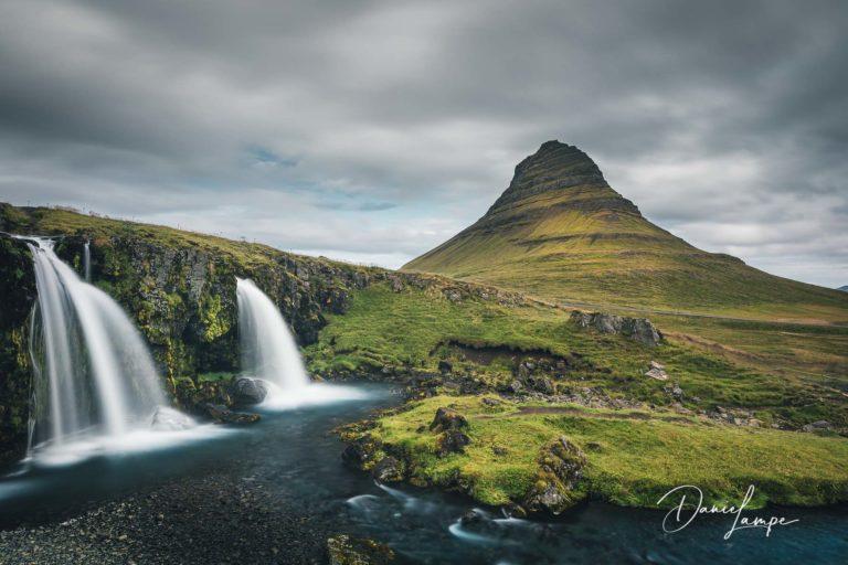 Island, Kirkjufell, Kirkjufellsfoss, Wasserfall, Berg