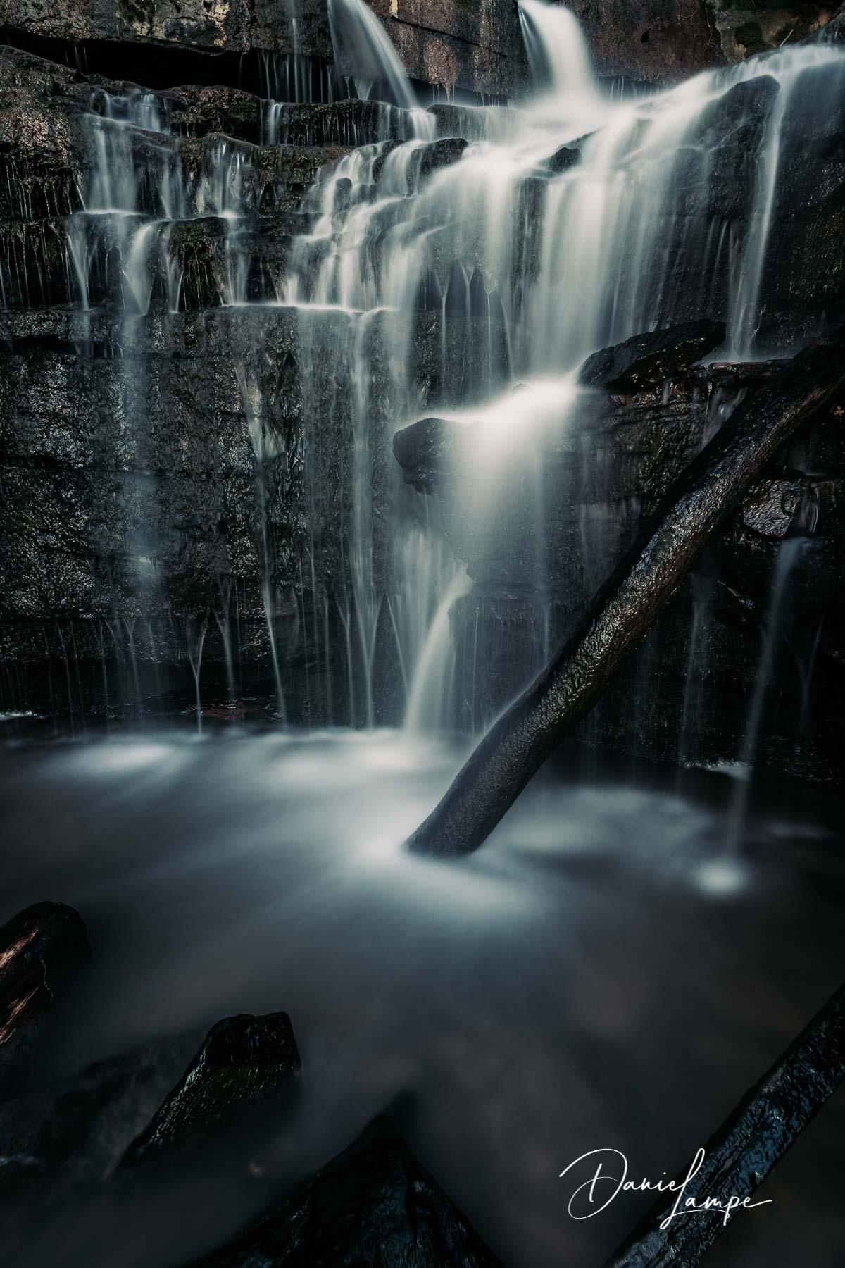 Deutschland, Odenwald, Neckargerach, Margarethenschlucht, Wasserfall