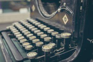 Blog, Schreibmaschine,