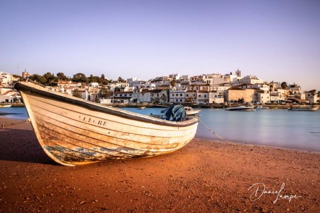 Portugal, Algarve, Ferragudo, Fischerdorf, Fischerboot